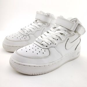 Nike Air Force 1 Mid GS Sz 4Y Wo's 6 white shoes